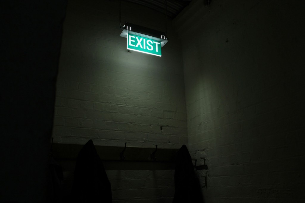Exist - custom made sign