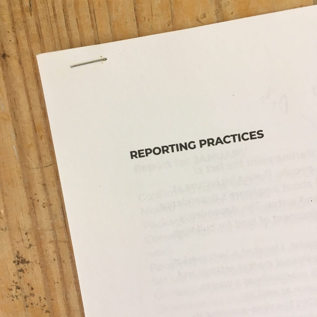 Reporting Practices